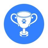 Dog award vector icon in black style for web Stock Photos