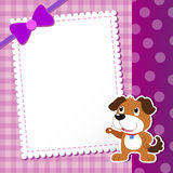 Dog. baby card. Royalty Free Stock Images