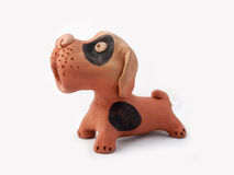 Dog baked clay Stock Photography