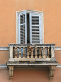 Dog on balcony Royalty Free Stock Photo