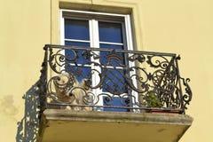 Dog at balkony Royalty Free Stock Images
