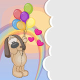 Dog with balloons Royalty Free Stock Photos