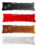 Dog banner / header. Beautiful grunge dog themed web site banner / header collection vector illustration