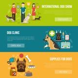 Dog banner set Stock Image