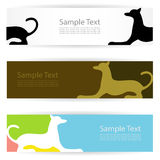 Dog banners Royalty Free Stock Photography