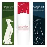 Dog banners Stock Image