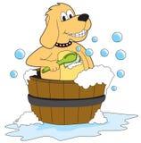Dog bathing. Dog taking a bath - Illustration - Vector stock illustration