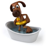 Dog in a bathtub Royalty Free Stock Image
