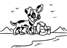Dog beach lifeguard coloring pages Stock Images