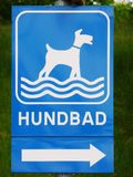 Dog Beach Sign in Swedish 'Hundbad' Royalty Free Stock Image