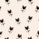 Dog with big head and nose. Vector Seamless pattern. Royalty Free Stock Images