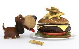 Dog with Big Mac Stock Photo