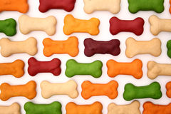 Dog biscuits background Stock Photos