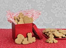 Dog Biscuits for Valentine`s Day Royalty Free Stock Image