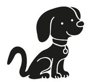 Dog black silhouette icon. Isolated Royalty Free Stock Image