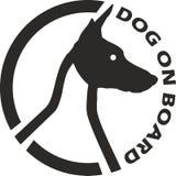 Dog on board royalty free illustration