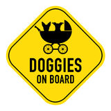 Dog on board sign Royalty Free Stock Image