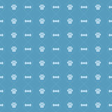 Dog And Bone Pattern EPS. A seamless dog paw and bone background pattern. Available in vector EPS format Royalty Free Stock Photography
