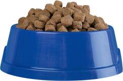 Dog Bowl with Dry Food Isolated. Dog bone pet food animal food dry food dog food food dishware Stock Photography