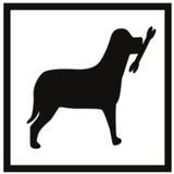 Dog with bone sign Stock Photos