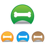 Dog bone sign icon. Pets food symbol. Round Royalty Free Stock Images