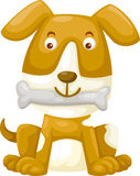 Dog with bone vector Stock Photo