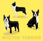 Dog Boston Terrier Cartoon Vector Illustration Stock Photo