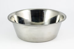 Dog bowl. On a white background Royalty Free Stock Photo