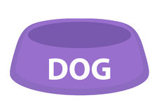 Dog bowl for food icon flat, cartoon style. Isolated on white background. Vector illustration, clip-art. Royalty Free Stock Photos