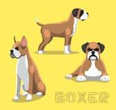 Dog Boxer Cartoon Vector Illustration Stock Photos