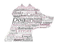 Dog breed Canine Word Cloud Typography Illustration Concepts Ide Royalty Free Stock Photography