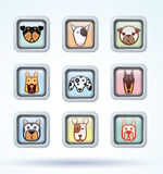 Dog breed collection icons - vector illustration Royalty Free Stock Image