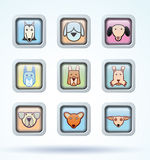 Dog breed collection icons - vector illustration Royalty Free Stock Photo
