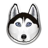 The dog of breed Husky. Portrait of Husky on the label. Logo, emblem, mascot. Vector illustration Royalty Free Stock Image