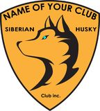 Dog breeder club Siberian husky logo. Dog breeder club Siberian husky concept logo Stock Photography