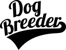Dog breeder retro. Animal in black vector illustration