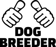 Dog breeder thumbs. With word vector illustration