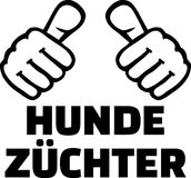 Dog breeder thumbs german. Words stock illustration