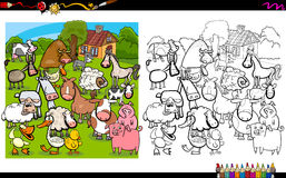 Dog breeds coloring page Royalty Free Stock Photo