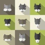 Dog Breeds icons. Icons set: stylized dogs. Flat style Stock Image