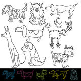 Dog Breeds Royalty Free Stock Image