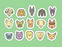 Dog breeds stickers Royalty Free Stock Photo