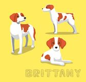 Dog Brittany Cartoon Vector Illustration Stock Photos
