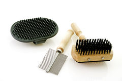 Dog brushing tools Stock Photography