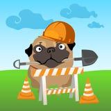 Dog builder on nature background Stock Image
