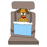Dog Car Seat Royalty Free Stock Photography