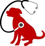 Dog care. Isolated line art work Stock Image
