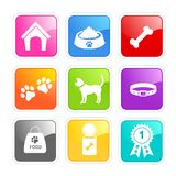 Dog care icons Royalty Free Stock Image