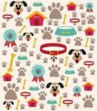 Dog Care Illustration with different icons stock illustration