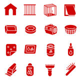 Dog care items as glyph icons, set one Royalty Free Stock Photos